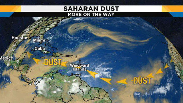 Saharan dust arrives in Houston with more on the way