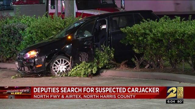 Deputies search for suspected carjacker
