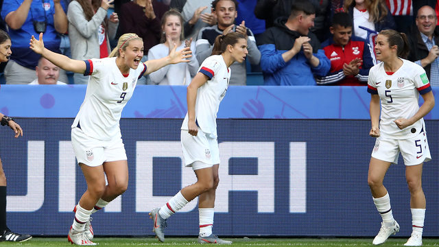 US women beat Spain 2-1 to advance to World Cup quarterfinals