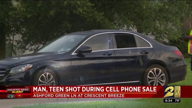 Man, teen shot during cellphone sale