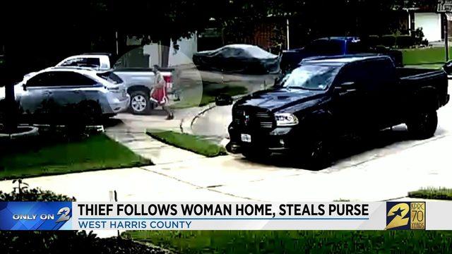 Thief follows woman home, steals purse