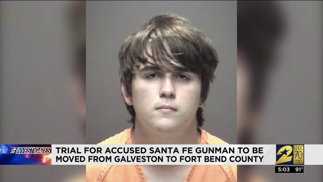 Trial for accused Santa Fe gunman to be moved from Galveston to Fort Bend County
