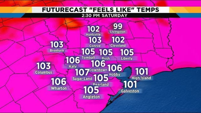 Hot, humid conditions stick around for the weekend