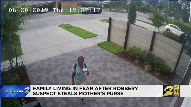 Family living in fear after robbery suspect steals mother's purse