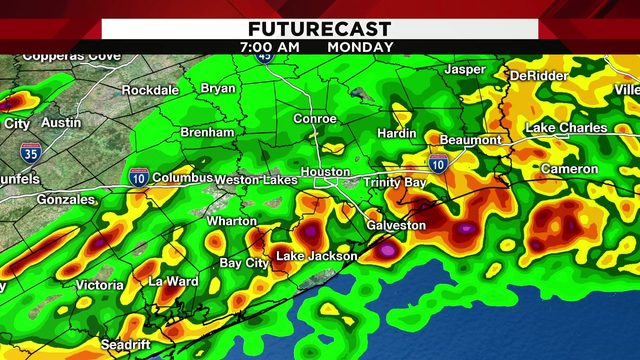 What to expect as heavy downpours push through the area