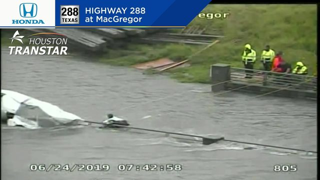 LIVE: Crews rescue person from floodwaters near Museum District