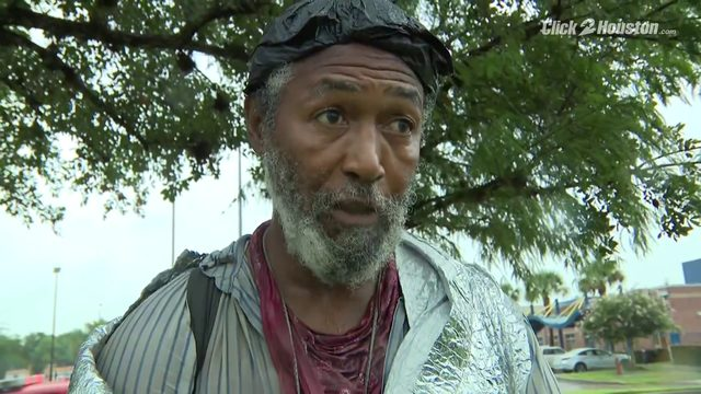 Homeless man speaks after being rescued from Brays Bayou