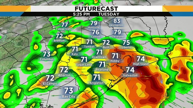Tuesday storms could bring gusty winds, pea-sized hail for evening commute
