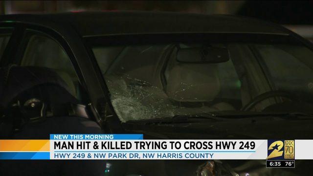 Man hit, killed trying to cross Hwy 249