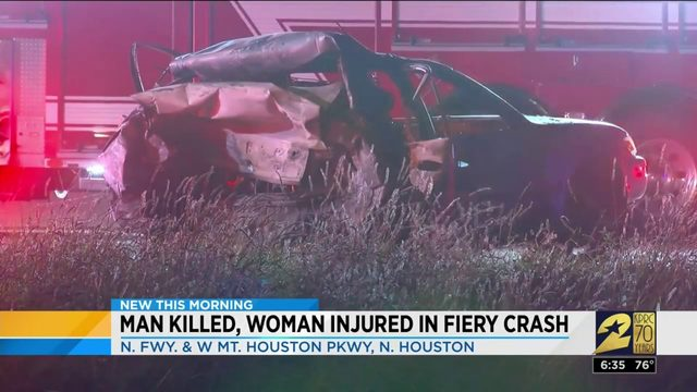 One dead after fiery crash