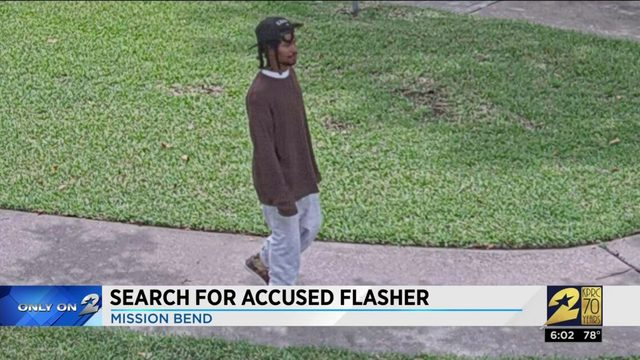 Search for accused flasher