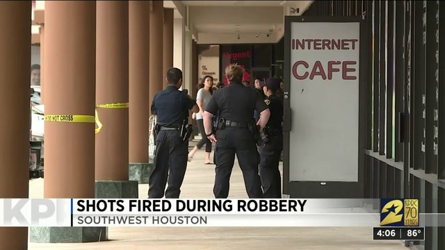 Shots fired during robbery