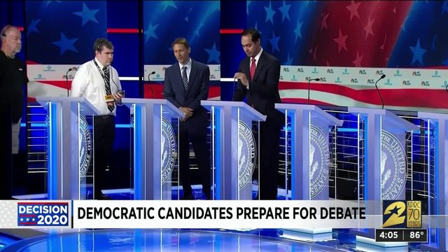 Democratic candidates prepare for debate