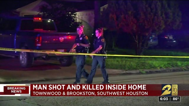 Man shot, killed inside home
