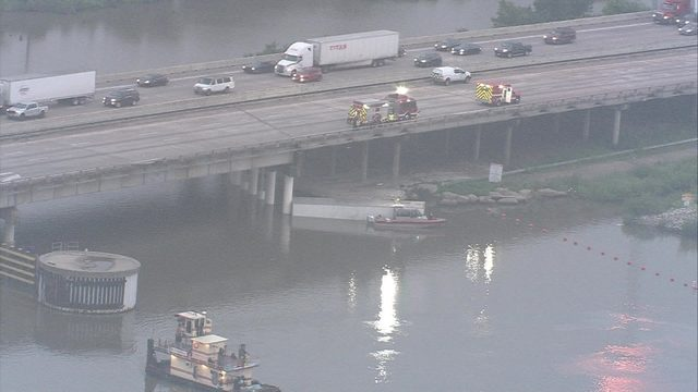 Crash sends 18-wheeler flying off East Freeway, driver feared dead