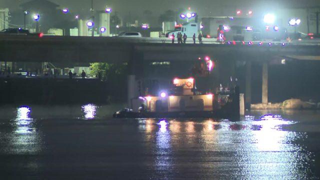 LIVE STREAM: Crash sends 18-wheeler flying off East Freeway