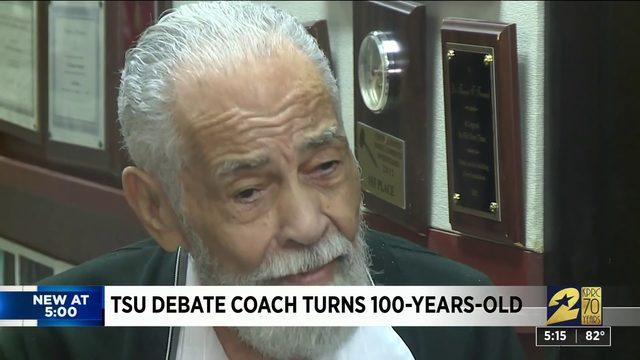 TSU debate coach turns 100 years old
