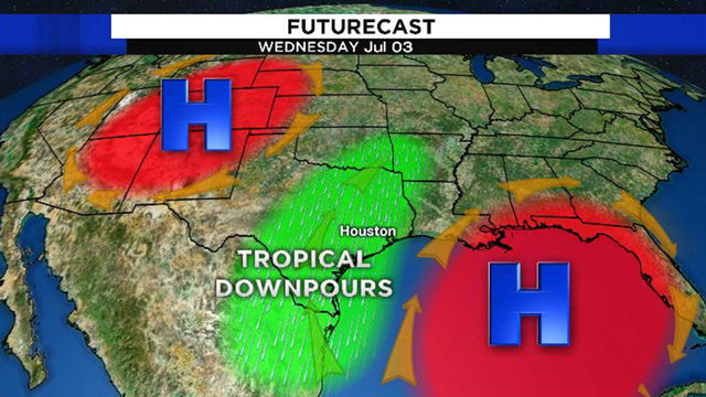 Downpours possible Tuesday and your Fourth of July forecast