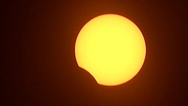 Total solar eclipse moves across South America