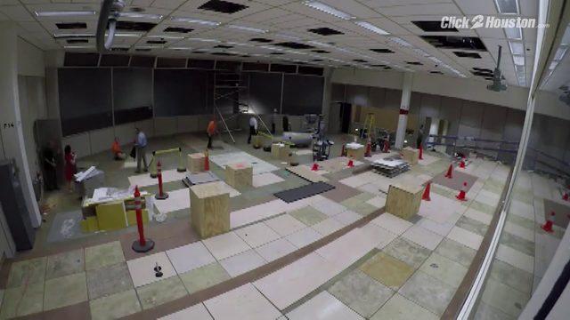 Apollo Mission Control Room restoration time lapse