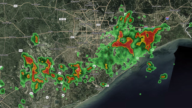 RADAR: Storms move through Houston area