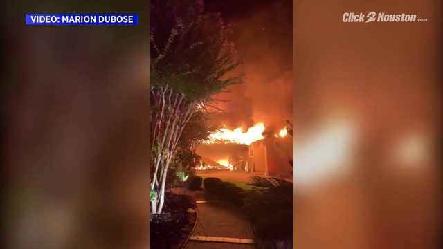 Neighbor shares video of Klein house fire