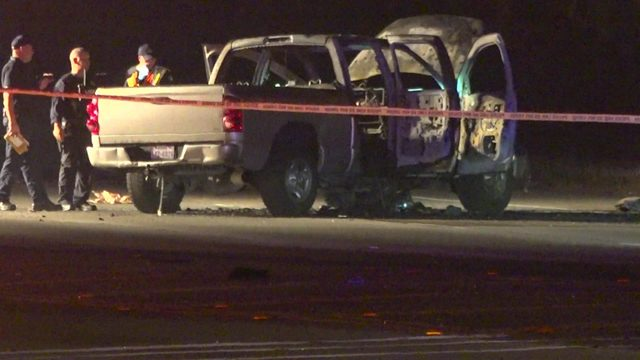 4 burned after road rage shooting causes fireworks to ignite in car