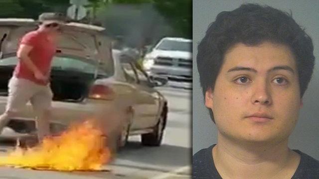 Man arrested after American flag burned in Walmart parking lot