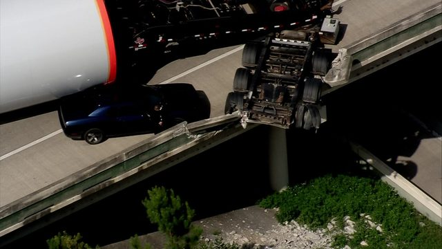 18-wheeler loses load, damages bridge on Highway 59 at 242 after being…
