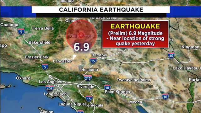 Powerful 6.9 earthquake rocks Southern California day after large quake…