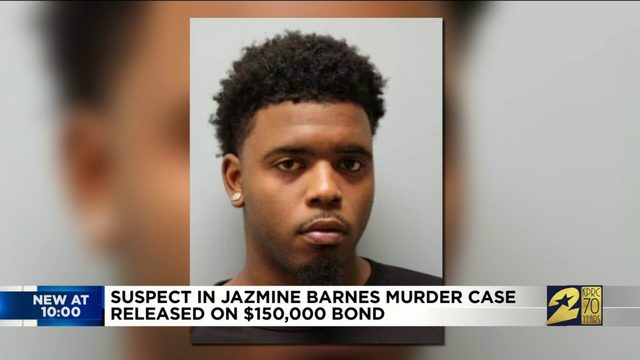 Suspect in Jazmine Barnes murder case released on $150,000 Bond