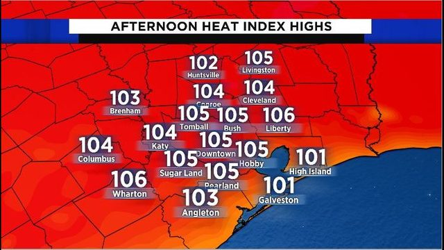 Hot, humid day ahead: 'Feels like' temps to top out around 105 degrees…