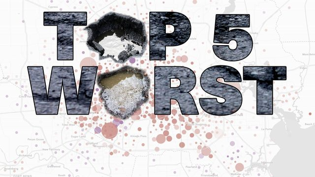 Maps: Where are the most pothole complaints in Houston?