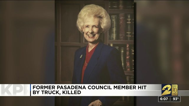 Former Pasadena council member hit by truck, killed