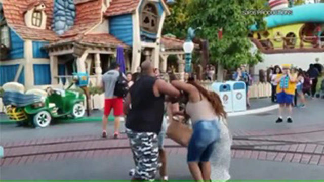 VIDEO: Brutal family brawl breaks out at Disneyland's Toontown