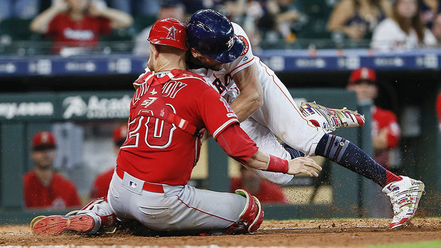 Marisnick-Lucroy home plate collision leads to war of words with Astros, Molina