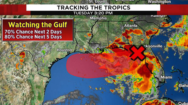 Tracking the tropics: System likely to develop in Gulf within next 2 days