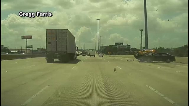 Dashcam video captures terrifying crash on Highway 290 in NW Houston