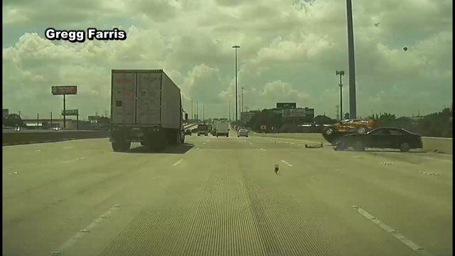 Dashcam video captures terrifying crash on Highway 290 in NW Houston