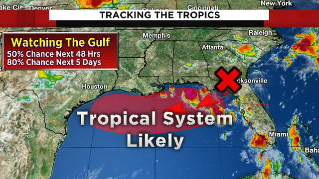 Tracking the tropics: System could develop in Gulf within next 2 days