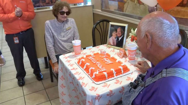 Whataburger helps Texas couple celebrate 62nd anniversary