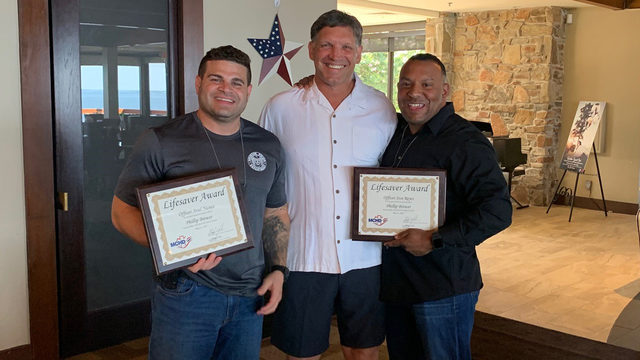 Fast-thinking off-duty HPD officers save man's life at Walden Yacht Club