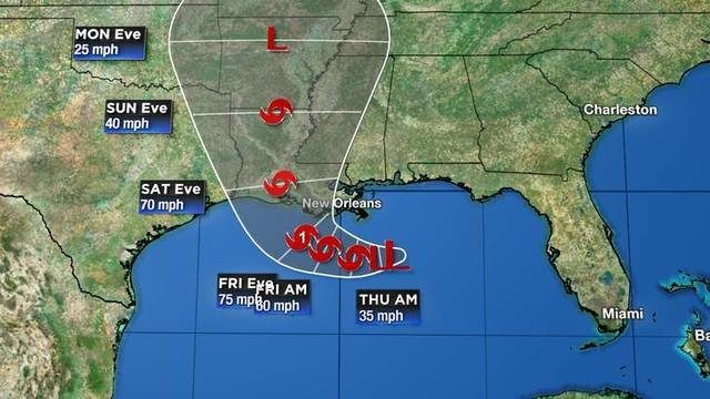 Tracking the tropics: Probable tropical depression cone does not include Houston