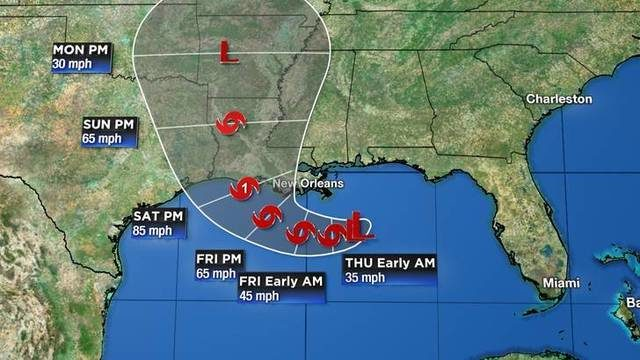 Tracking the tropics: Likely tropical depression forming in Gulf