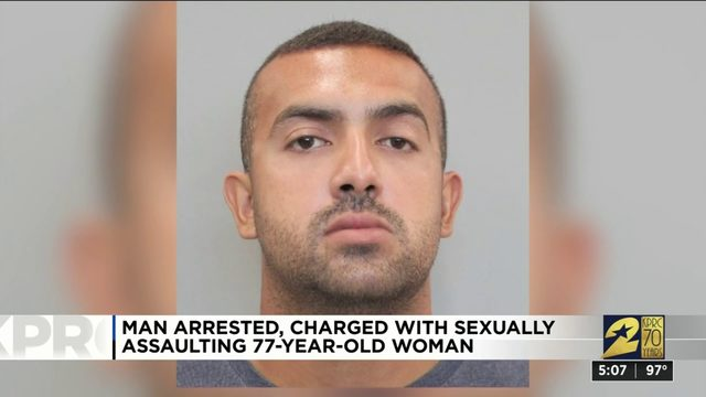 Man arrested, charged with sexually assaulting 77-year-old woman