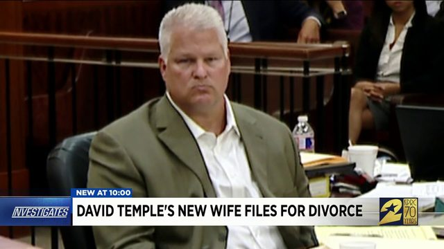 David Temple's new wife files for divorce