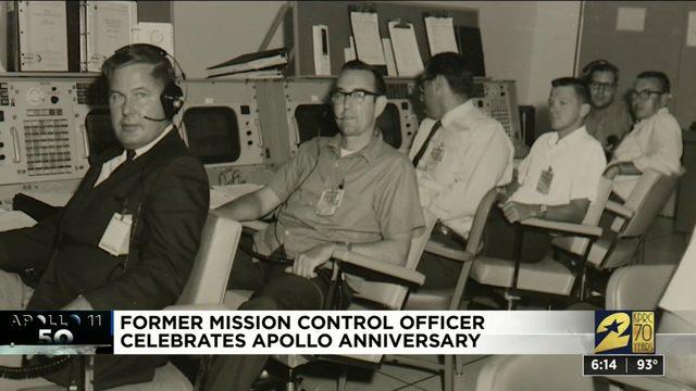 Former Apollo 11 mission control officer celebrates 50th anniversary
