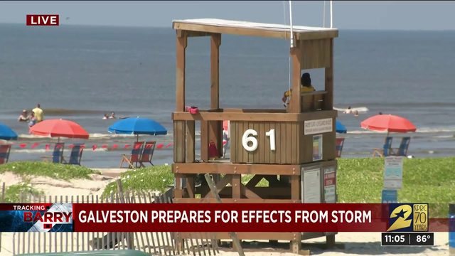 Galveston prepares for effects from storm
