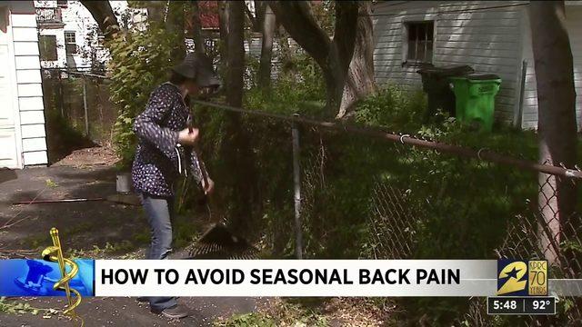 How to avoid seasonal back pain