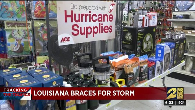 Louisiana braces for storm
